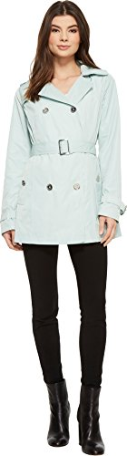 (Michael Michael Kors Women's Short Double Breasted Trench M723285F Mint Large)