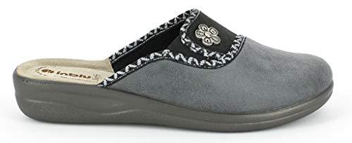 Invernali Cf Inblu Ciabatte Grigio Da 21 Donna Pantofole Art wHvSqxBZv