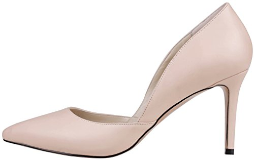 8 On Shoes B Pink Stiletto Court 5CM Pointed Women Calaier Camiss Toe Slip pRxHUpqB