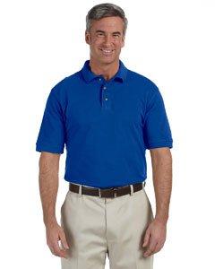 Ringspun Pique Shirt (Harriton M200T Unisex Tall 6 oz. Ringspun Cotton Pique Short-Sleeve Polo Shirt True Royal 2XLT)