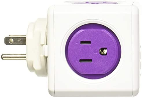 Allocacoc PC-1910 USRU4P 1910 Adapter, 4 outlets 2USB, Purple