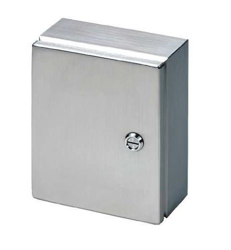 Rittal 8018116 316L Stainless Steel JB Hinge Cover Junction Box, 11-13/16'' Width x 13-25/32'' Height x 5-29/32'' Depth