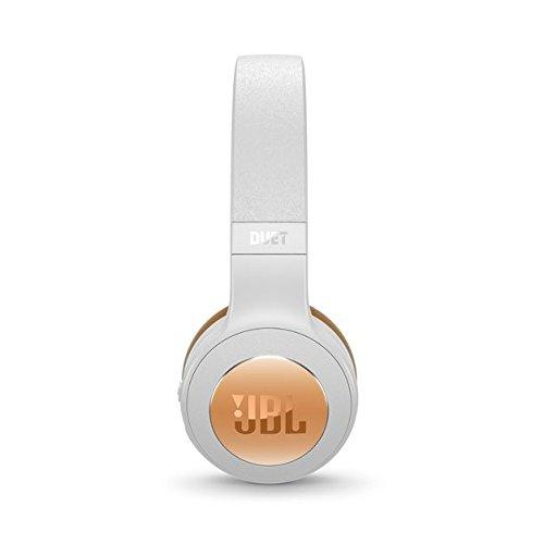 JBL Duet Bluetooth Wireless On-Ear Headphones – Silver