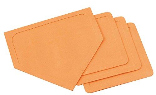 Sportime Throw-Down Bases and Home Plate, Set of 4, Orange (Base Rubber Baseball)