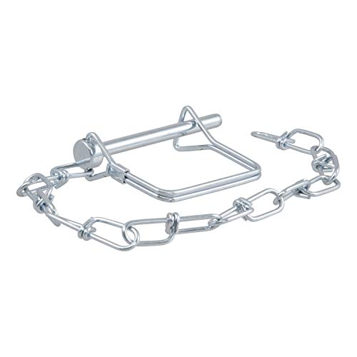 CURT 25012 Trailer Coupler Pin with 12-Inch Chain 1/4-Inch Diameter x 2-3/4-Inch Long