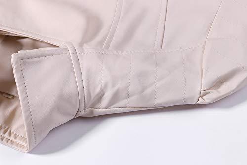 Manteau Blouson Éclair Femme Shobdw Veste Chaud Fermeture Pullover Blouse À Casual Beige Capuche Hoodie Mode Hiver Tops Sweatshirt Cuir nbsp; Fzdzqwtn