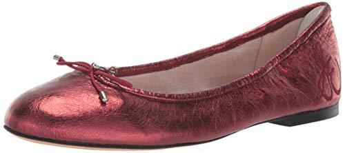 Sam Edelman Women's Felicia Ballet Flat, Metallic Rust Metallic Leather, 10 M US]()