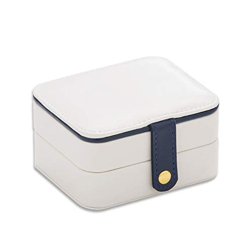 - BATOP white blue pu leather jewelry box,multilayer