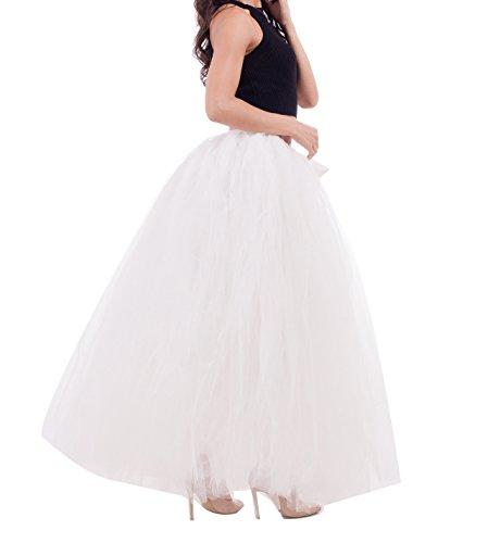 Ceinture Elastic Tulle Femme Petticoat Tulle Princesse Jupe Vintage 100cm Beige Longue en YnC0q