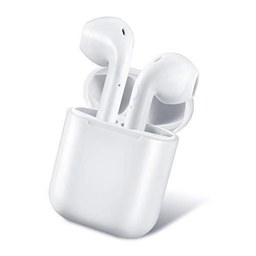 Wireless Headphones, DeDeSoon Bluetooth Earbuds True Wireless Earphones Stereo Sports Headsets with Charging Case Noise Cancelling Sweatproof Earpiece for Smartphone