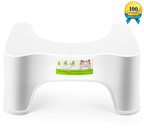 Potty Trainer Toilet Step Stool, The Bathroom Toilet Stool-White (8