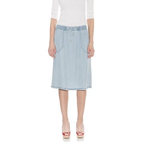 Discount Esteez Women's Knee Length A Line Jean Skirt Tencel Denim Savannah supplier