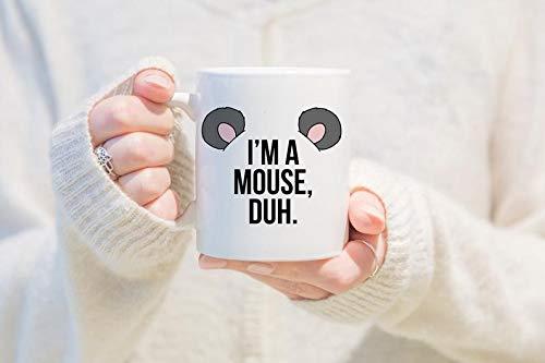 Mean Girls Quote Halloween (Mugs For You - I'm A Mouse Duh, coffee mug, tea mug, mean girls, mug, karen mean girls, mean girls quote mug, halloween, halloween mug, funny halloween mug - Coffee)