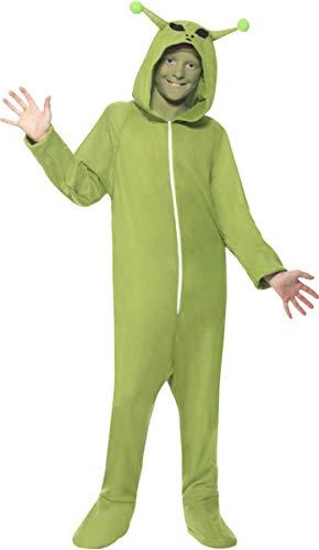 Smiffys Unisex Kids Halloween Fancy Dress Party Book Week Day Alien Costume S (Age 4-6) ()
