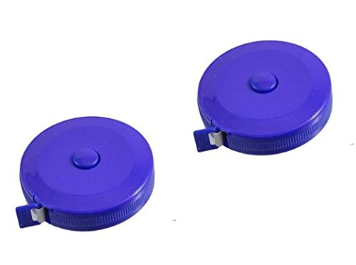 Retractable Fiberglass Tape Measure - Sell4Style Body Tape Measure Automatic Retractable Measuring Tape Set 60 Inches 1.5 Meter Blue (2 Pack)