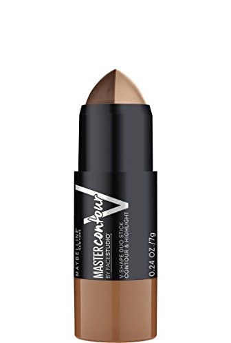 Maybelline Makeup Facestudio Master Contour V-Shape Duo Stick, Deep Shade Contour Stick, 0.24 oz