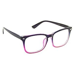 Cyxus Blue Light Blocking [Clear Lens] Glasses, Anti Eye Strain Headache Computer Eyewear for Women (Gradient Pink Frame)