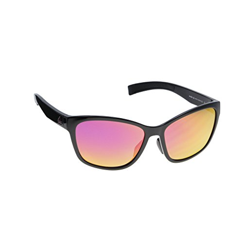 adidas Women's Excalate Round Sunglasses, Black Shiny/Purple Mirror, 58 - Sunglass Adidas