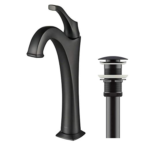 Kraus KBF-1201MB Arlo Bathroom Faucet, Matte Black