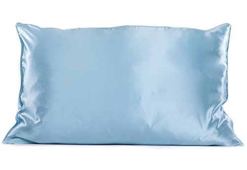 Mulberry Silk Pillowcase - Solid Case for Facial & Hair Health by TexereSilk (Single Pack, Crystal Blue, King) Gift Ideas for Women ()