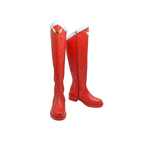 DUNHAO COS Anime Sailor Moon Halloween Cosplay Red Custom Made Shoes Boots Female US 8/EU41 -