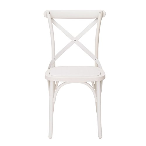 french dining chairs. Joveco Eco-Friendly Nylon Vintage-Style Dining Chair Curved Leg Cross Back, French White (Set Of 2) Chairs