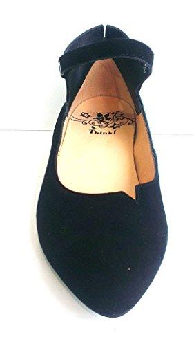 Think Spangenpumps, Velvet Goat Leather schwarz, herausnehmbares Fußbett für eigene lose Einlagen, Imma 87236-00
