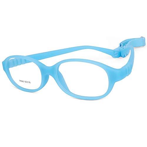 Children Optical Glasses Frame TR90 Flexible Bendable One-piece Safe Eyeglasses Girls Boys ()