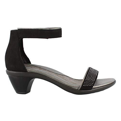 NAOT New Women's Progress Dress Sandal Black Velvet/Mirror -