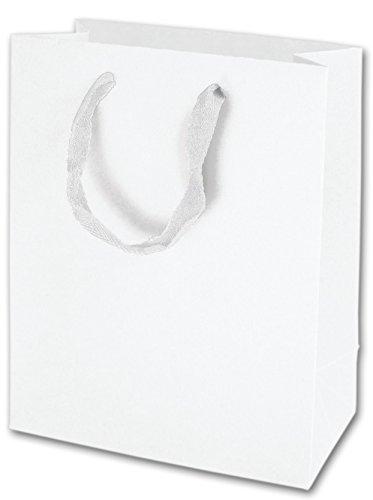 Solid Euro-Shoppers - Wall Street White Manhattan Eco Euro-Shoppers, 8 x 4 x 10 (100 Bags) - BOWS-5841-0118 ()