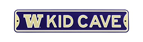 Authentic Street Signs NCAA College Officially Licensed STEEL Kid Cave Sign-Decor for sports fan bed room! ... (Washington Huskies)