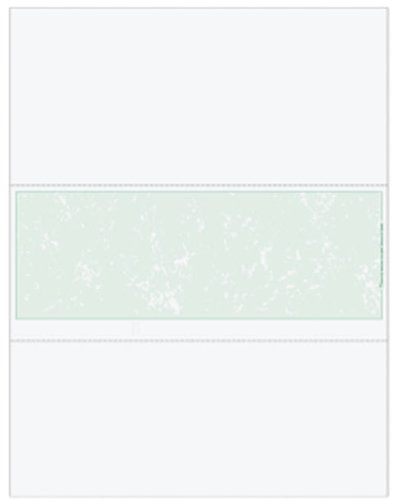 EGP Essential Blank Laser Check Stock, Green with Marble Background, Quantity 500 (Middle Check Size 3 4/6'') by EGPChecks