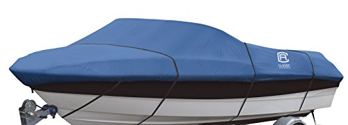 Classic Accessories Stellex Boat Cover For V-Hull Runabouts, Fits 20' - 22' L x 106