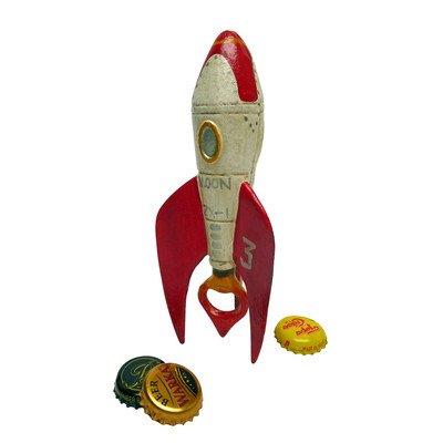 Retro Rocket Ship Cast Iron Bottle Opener