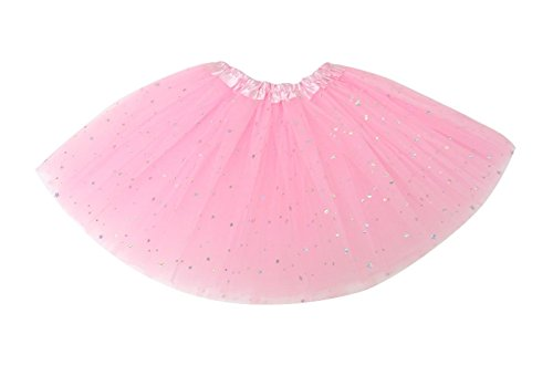 S2 SPORTSWEAR Tutus for Girls Ballet Skirts Tulle Stars Sequins Dance Costume Layered Party Dress (KB104) (Little Stars Dance Costumes)