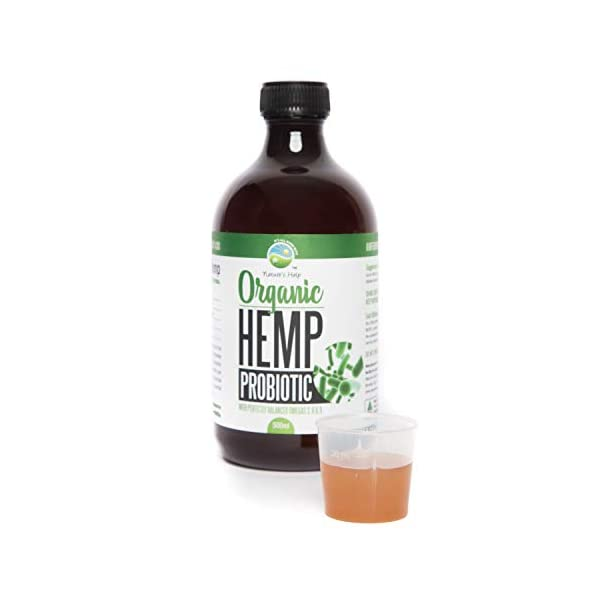 Organic Hemp Probiotic and Multiply Plus Probiotic Formula with Perfectly Balanced Omegas 3,6 and 9 -Plant Based Probiotic- Healthy Immune System, High in AntioxidantsMade in Australia 500 ml Liquid