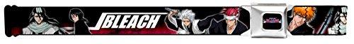 Bleach Shonen Jump Seatbelt Belt Character Poses Black Red White