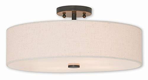Livex Lighting 52136-92 Meridian 4 Light English Bronze Ceiling Mount,