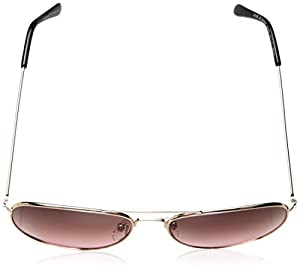 A.J. Morgan Women's Skye Aviator Sunglasses, Gold / Pink, 56 mm