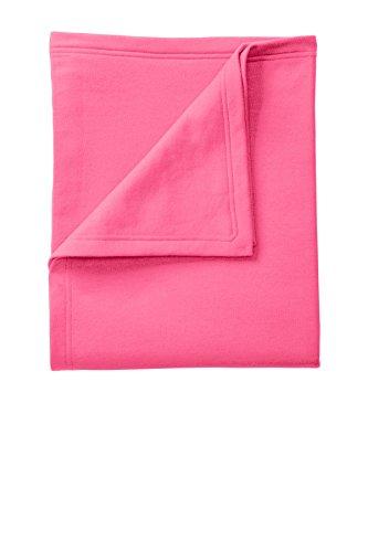 Port & Company Core Fleece Sweatshirt Blanket OSFA Neon - Sweatshirt Blanket Pink