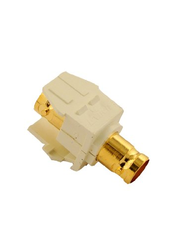 Leviton 40832-BA Bnc Quickport Adapter, Gold-Plated, Color (Leviton Bnc Adapter)