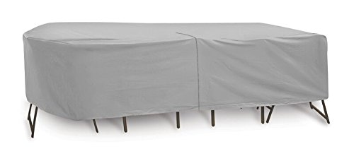 Rectangular Bar Height Umbrella Table (Protective Covers Weatherproof Patio Table and Chair Set Cover, 60 Inch x 66 Inch, Oval/Rectangle Bar Table,)