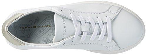 Tommy Hilfiger T1285ina 10a1, Zapatillas para Mujer Blanco (White 100)