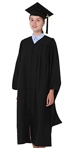 GraduationMall Unisex Economy Master Graduation Gown Cap Tassel Package Black XX-Large 57(6'0 -