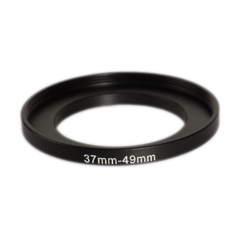Ares Photography 49mm to 55mm Step-Up Lens Adapter Ring for Filters Made of CNC Machined Metal with Matte Black Electroplated Finish