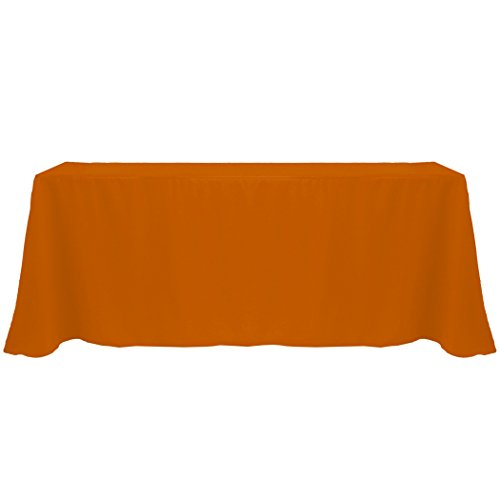 Ultimate Textile (20 Pack) 90 x 132-Inch Rectangular Polyester Linen Tablecloth with Rounded Corners - for Wedding, Restaurant or Banquet use, Burnt Orange by Ultimate Textile