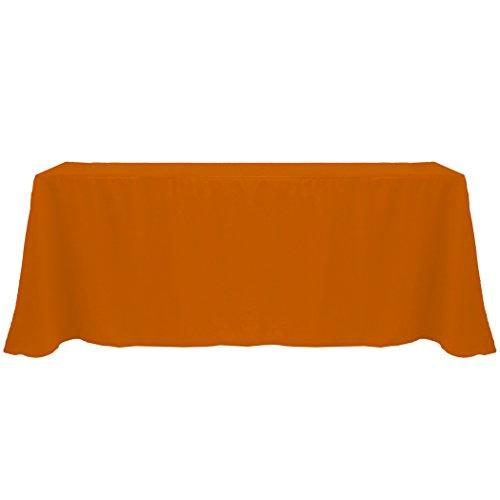 Ultimate Textile 90 x 132-Inch Rectangular Polyester Linen Tablecloth Burnt Orange