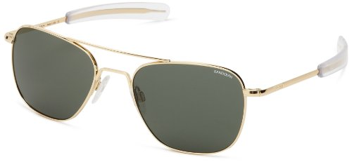 Randolph Engineering Aviator Gold Plated Bayonet 55mm AGX - Gold Aviator Plated Sunglasses
