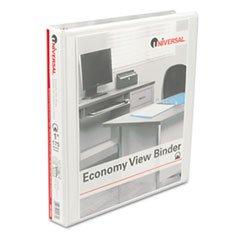Round Ring Economy Vinyl View Binder, 1in Capacity - Color: