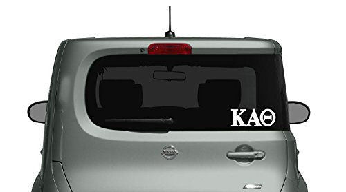 Kappa Alpha Theta - Car, Truck Laptop Decal Sticker (3 Pack) (White)